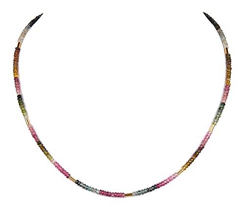 Turmalin bunt Kette Halskette