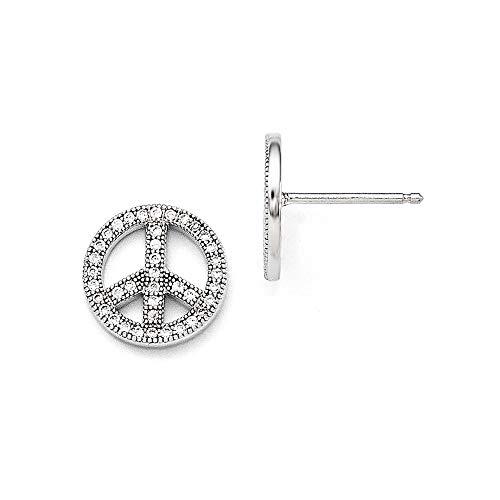 Pendientes de plata de ley 925 y circonita cúbica con diamantes de imitación pulidos y joyas para mujer
