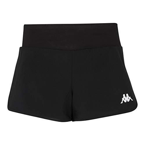 Kappa Falza Pantalón Tenis, Mujer, Negro, S