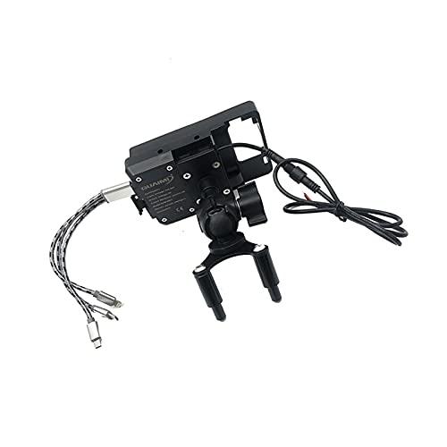 Hjunisshkm Motorrad USB Mobiltelefon Ladegerät Standhalter Navigation Halterung GPS-Halterung für Ducati Panigale V4 V4s 2018-2020 ahdyj (Color : USB Mobile Phone)