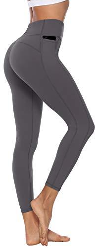 Persit Sporthose Damen, Sport Leggins für Damen Yoga Leggings Yogahose Sportleggins Grau-Size 34 (Herstellergröße: XS)