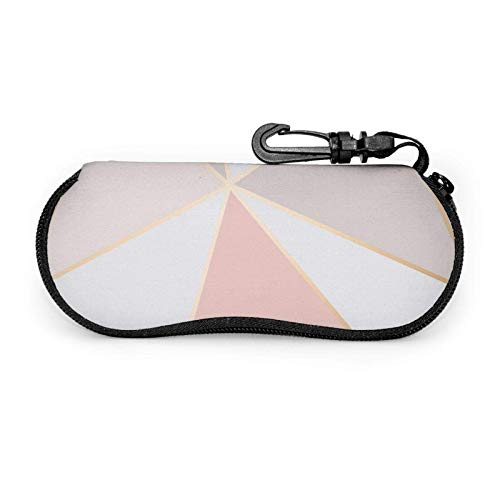 Fundas de gafas Estuche de gafas con mosquetón Caja protectora de cremallera de neopreno portátil para unisex