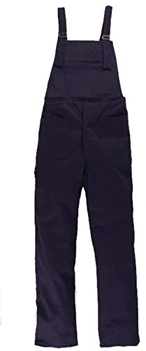 Salopette da Lavoro Blu in Cotone Uomo Donna - Pantalone Pettorina (48)