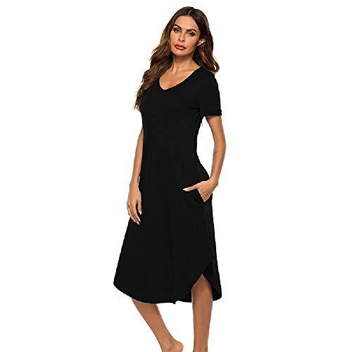 Pijamas de Primavera y Verano para Mujer Ropa de hogar de Cola de Milano Cómoda Ropa de hogar Informal Suelta y cómoda
