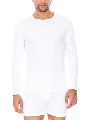 Abanderado Termal algodón Invierno C/Redondo Camiseta térmica, Blanco, L para Hombre