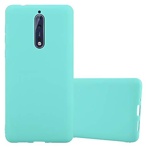 Cadorabo Funda para Nokia 8 2017 en Candy Azul - Cubierta Proteccíon de Silicona TPU Delgada e Flexible con Antichoque - Gel Case Cover Carcasa Ligera