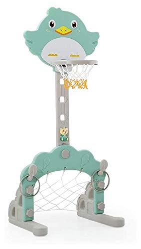 Los niños del aro de Baloncesto de 60 Pulgadas Base Regulable en Altura, Fútbol/GOL de fútbol, Juegos de Anillo lanzar 3-en-1 Sports Activity Centre de Interior al Aire Libre for niños Juegos Jueg