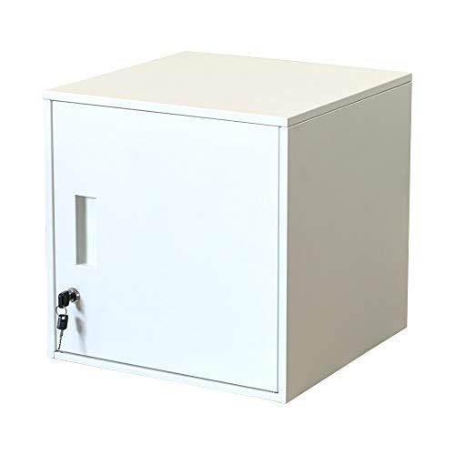 キューブBOX鍵付ロッカー キューブボックス 扉付き ホワイト JAC-04WH