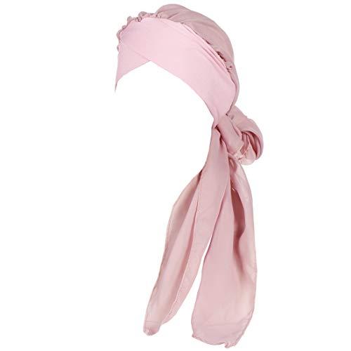 YONKINY Turbante Quimioterapia Mujeres Verano Elegante Pañuelo la Cabeza Cancer Respirable Sombrero de Quimio Cómodo Tejido De Gasa Headwear Oncológico Pèrdida de Pelo Cabello