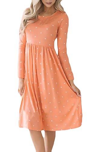 Dames jurken voorjaar zomer vrije tijd shirt jurk met lange mouwen print mode complex O-hals tuniek midi jurk blousejurk