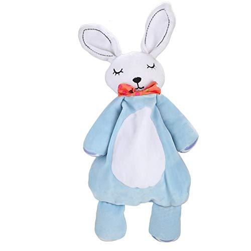 Toalla calmante para bebés, marioneta de mano calma muñeca de felpa juguete manta de toalla de saliva muñeca para dormir para bebés(36cm-Conejo)