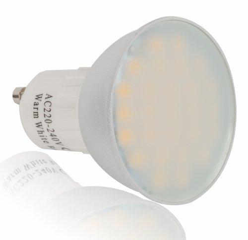 10 x 27 bombillas led de intensidad regulable SMD 6 W. Luz blanca cálida de alta luminosidad. Ideal para colocar en cualquier sitio de la casa