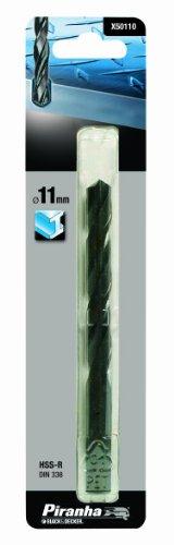 Piranha Metallbohrer HSS (11 mm Bohrerdurchmesser, 142 mm Gesamtlänge, geeignet für Metalle) 1 Stück, X50110