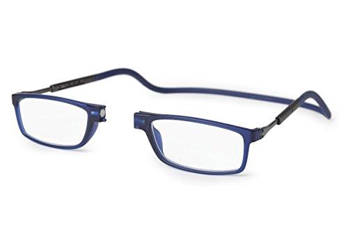 Nueva Montura Slastik para Gafas de Lectura Magnética Estilo Clic Doku 008 Estuche Blando Graduación, Varilla elástica & Lentes antirreflejantes Dioptría+1.5