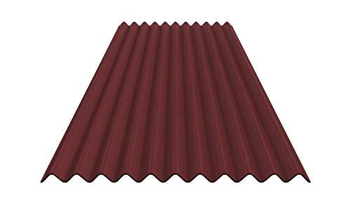 Bitumenwellplatten Set (rot)