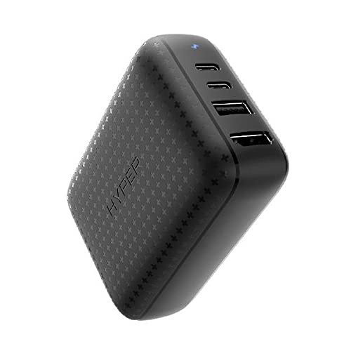 Hyper Switchドック HyperDrive 60W USB-C 多機能ドック [ 小型 ACアダプター / HDMI 4K60Hz / USB-C 45W 10Gbps / USB-A 7.5W 5Gbps / USB-C 18W ] HP-HDNS60BK【国内正規品】