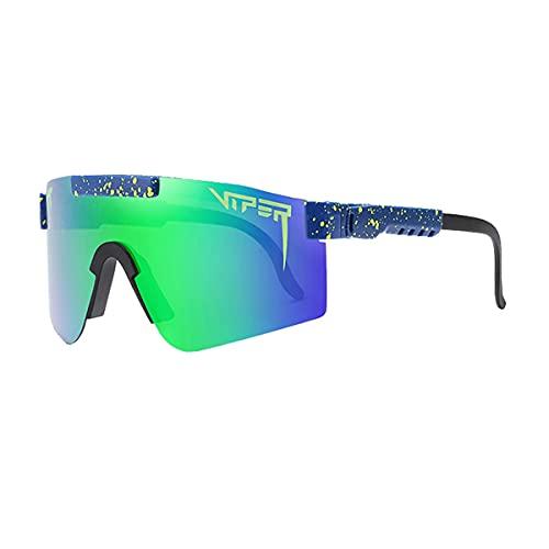 Pit_Vipers Sonnenbrille UV400 polarisiert für Herren und Damen, Fahrradbrille (blau)