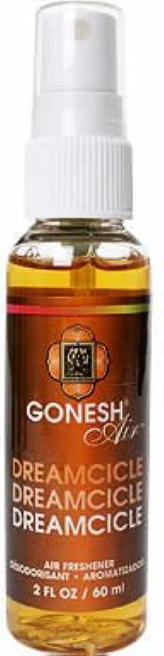 クリア敏感な識別するGONESH(ガーネッシュ)スプレー エアフレッシュナー ドリームシクル 60ml(オレンジとバニラをミックスした香り)