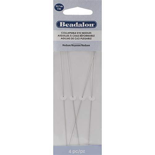 Beadalon Collapsible Eye Needles 5' 4/Pkg Medium