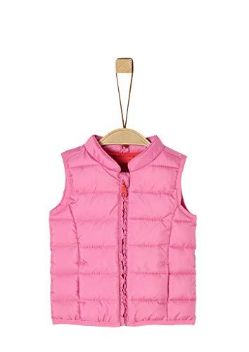 s.Oliver RED LABEL Unisex - Baby Steppweste mit Rüschenblende pink 74