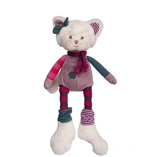 Bukowski Katze weiß-pink Odessa 25 cm Plüschtier Stoffkatze