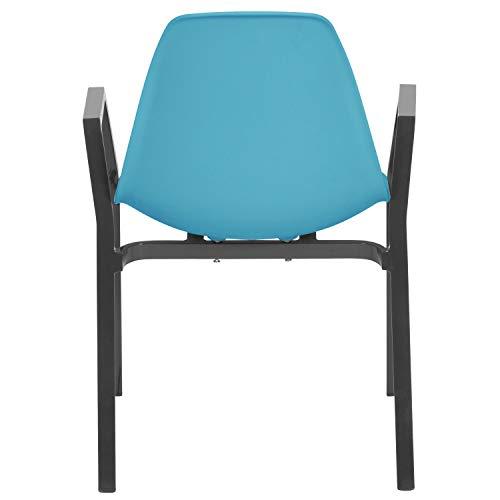 Ribelli stoel met frame van aluminium en zitkuip van kunststof tuinstoel lounge fauteuil schaalstoel meubels