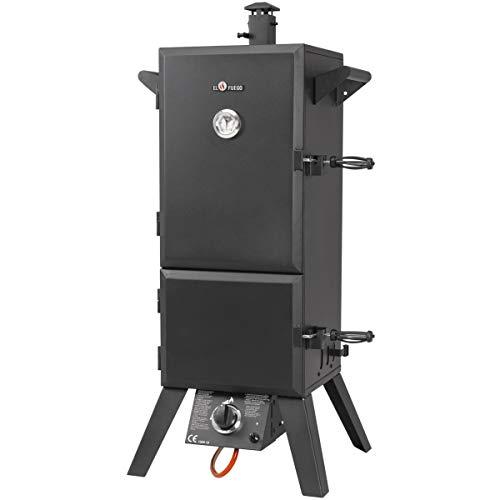 """El Fuego Gasgrill, Gas-Smoker Portland, Schwarz, 55x105x45 cm """"neue Version"""""""