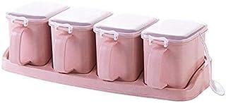 YYAI-HHJU Le Pot De Boîte D'Assaisonnement Peut Définir des Bouteilles De Cruet De Cuisine De Distributeur De Condiments D...