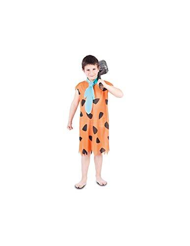 DISBACANAL Disfraz troglodita Naranja para niño - -, 7-9 años