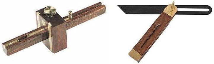 Silverline 868503 230 mm + CB72 230 mm Gramil con doble punta Falsa escuadra regulable
