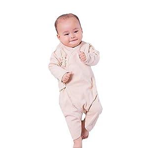 ZEVONDA長袖ベビーボディースーツ - 新生児幼児赤ちゃん男の子女の子服コットンロンパースジャンプスーツ, ブラウン/66cm / 4-6ヶ月