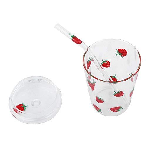 Ufolet con una Pajita y Tapa Vaso para Beber, Vaso para Jugo, para Taza de café, Vaso para Jugo, Vaso para Leche, Vaso para batido