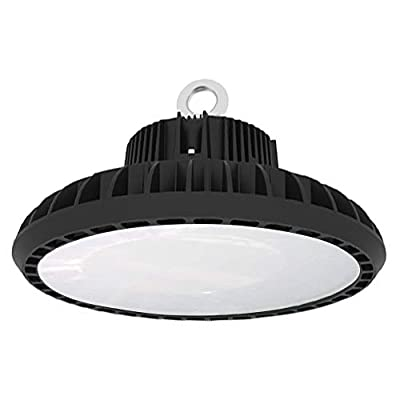 UFO High Bay Light Commercial and Industrial Warehouse Lighting Factory Shop Lamps 1-10V Dimmable 120 Degrees 5000k Daylight UL DLC