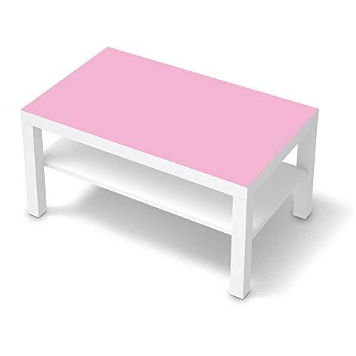 creatisto Wandtattoo Möbel passend für IKEA Lack Tisch 90x55 cm I Möbelaufkleber - Möbel-Tattoo Sticker Aufkleber I Wohnen und Dekorieren für Wohnzimmer und Schlafzimmer - Design: Pink Light
