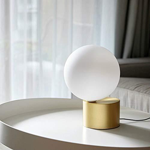BANAZ Lámpara de Noche, pequeña Creative Simple Metal Glass Ball Sala de Estar Estudio Dormitorio Decoración Lámpara de Mesa