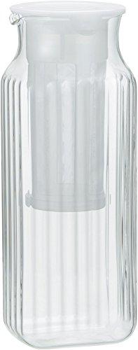 iwaki(イワキ) 耐熱ガラス角型サーバー (ホワイト) 1L 茶漉し付き K296KF-W