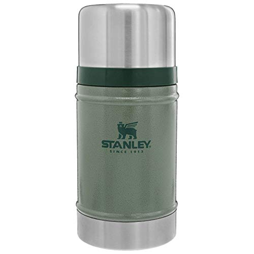 Stanley The Legendary Classic Food Jar .70l Hammertone Green 18/8 Stainless Steel Double-wall Vacuum Insulation Water Bottle Leakproof + Packable Dishwasher Safe Naturally Bpa-free, Unisex adulto, 7 L