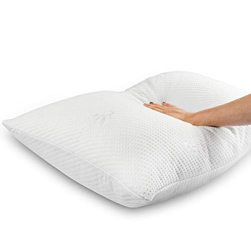 Cooling Bed Pillows for Sleeping Shredded Memory Foam Pillow with Washable Pillow Cover,Great Support and Fluffy
