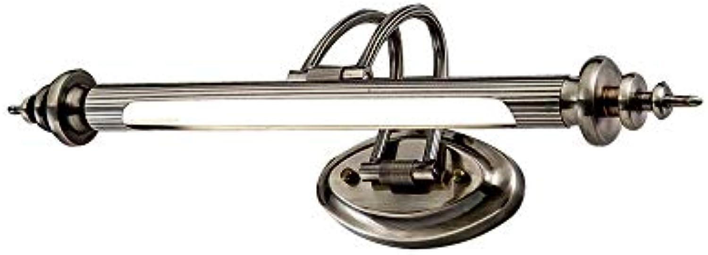 Modern LED Metall Spiegelleuchte Spiegellampe Wandleuchte Badezimmer Make Up Spiegel Licht Wasserdicht Wandlampe Badzimmer Küche Weie Licht 6000K, 45cm