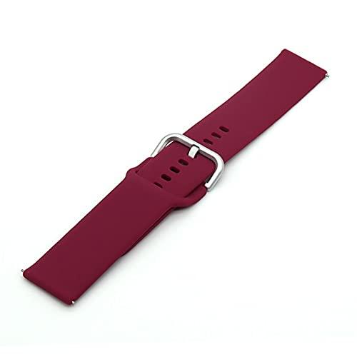 Strap Silicone Strap Reemplazo Reloj de reemplazo Smart Watch 20mm 22mm Banda de Silicona (Band Color : T20, Size : 22MM)