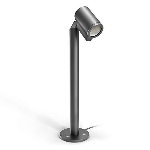 Steinel LED Strahler Spot Way anthrazit, 7 W Bodenstrahler, 520 lm Wegeleuchte, Gartenleuchte schwenkbar, warmweiß, IP44