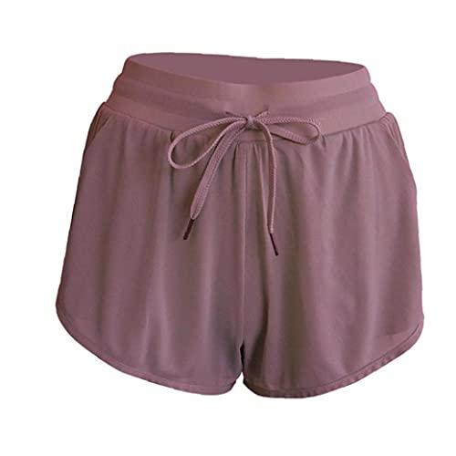 Pantalones Cortos De Yoga Anti Light Women Sport Shorts Entrenamiento Leggings Shorts para El Entrenamiento De Yoga Jogging Lavender S