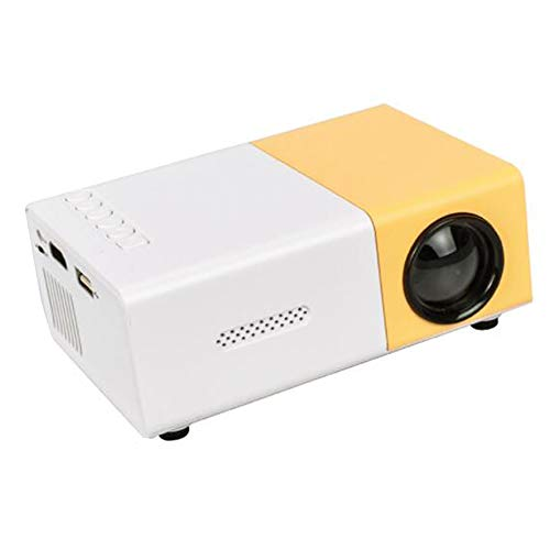 YYMM Proyector portátil, Mini Proyector de Video, 800 Lumens 3.5mm Audio Media Player, LED Home Theatre 1080P HD Compatible con HD Compatible, para Oficina en casa