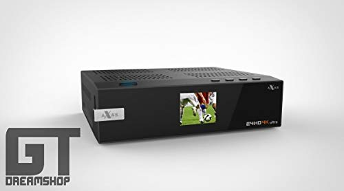 Axas E4HD 4K Ultra HD Linux HDTV USB 3.0 Wifi Gigabit H265 PIP 1x DVB-S2 + 1x Dual Dual DVB-C/T2