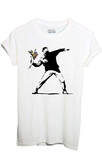 MUSH T-Shirt Banksy Fiori - Famosi by Dress Your Style...