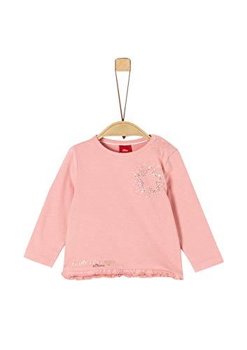 s.Oliver Baby-Mädchen 65.911.31.7730 Langarmshirt, Rosa (Rose 4257), (Herstellergröße: 80)