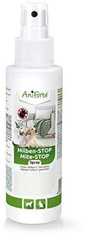 AniForte Spray antiácaros para Perros y Gatos 100 ml - Spray antiácaros para una Defensa eficaz contra Insectos y parásitos. Protección contra infestación de ácaros