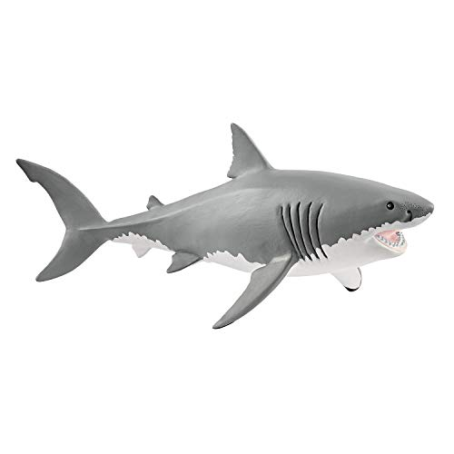 SCHLEICH Wild Life Great White Shark Educational Figurine for Kids Ages 3-8