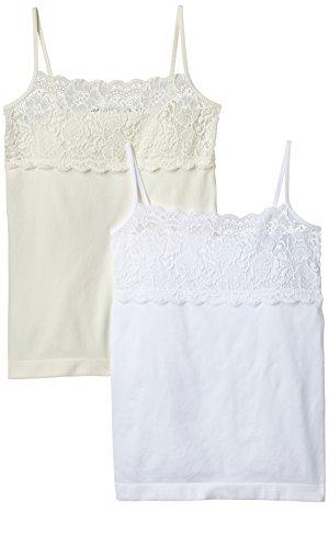 Luigi di Focenza Damen Unterhemd 1690, 2er Pack, Gr. 42 (Herstellergröße: L/XL), Elfenbein (Creme-weiß 135/099)