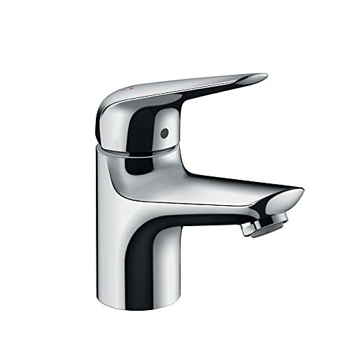 hansgrohe Wasserhahn Novus wassersparende Armatur (Auslauf Höhe 70mm mit Zugstangen Ablauf) Chrom